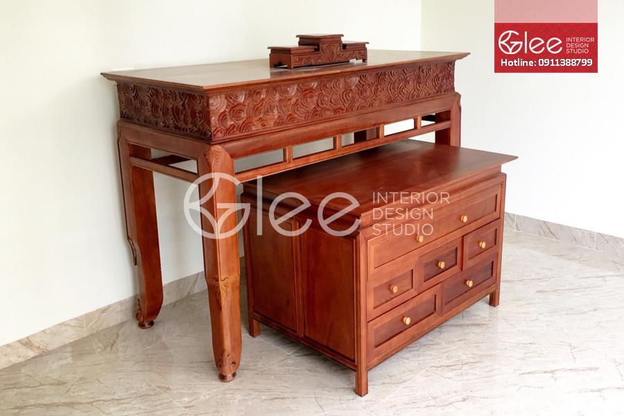 Bàn tủ thờ gỗ gụ cao cấp - GTT28
